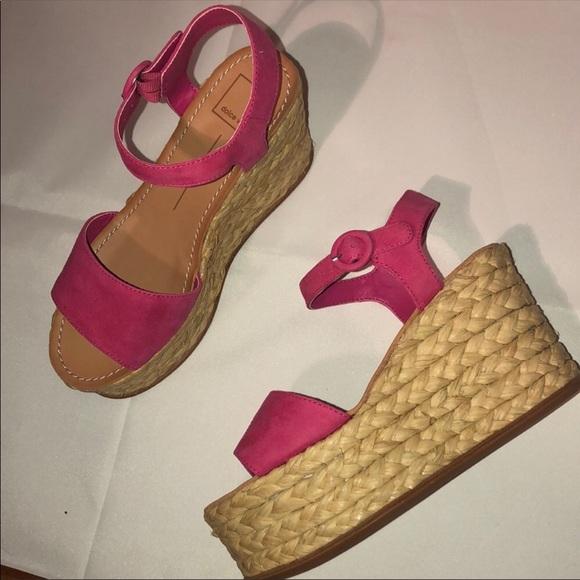 042c61e03aa DOLCE VITA Pink Dane Espadrille Wedge Sandals